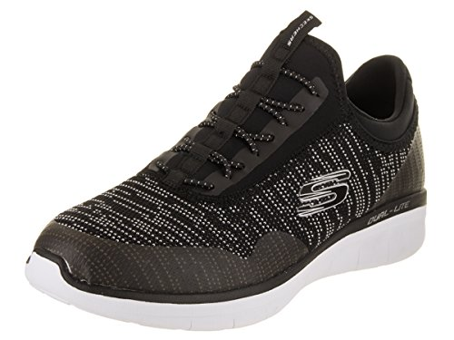 6b476c920cc4a Skechers Men's Synergy 2.0 - Turris Black/White Casual Shoe 9.5 Men US