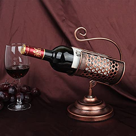 GYX Argento placcato wine rack creativo elegante ferro battuto vino