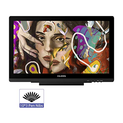HUION KAMVAS GT-191 V2 19,5 Zoll Grafiktablett mit Display Full HD IPS Grafiktablett Monitor mit Batterie freiem Stylus PW500, 8192 Levels Stift Druckempfindlichkeit