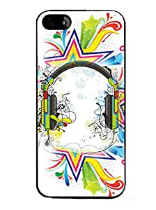 PrintVisa Metal Printed Music Designer Back Case Cover for Apple iPhone 5/ 5G/ 5S-D4653