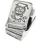 Dreambell plata de ley 925búho conocimiento sabiduría libro familia Educación Lectura Bead para pulseras