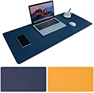 Large Desk Pad, Non-Slip PU Leather Desk Mouse Pad Waterproof Desk Pad Protector, Dual-Side Use Desk Writing M