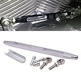 KaTur Deep Cut CNC Schaltgestänge für Harley Davidson Electra Street Tour Gleiter Trikes 1980-2017 (Deep Cut, Silber) ...