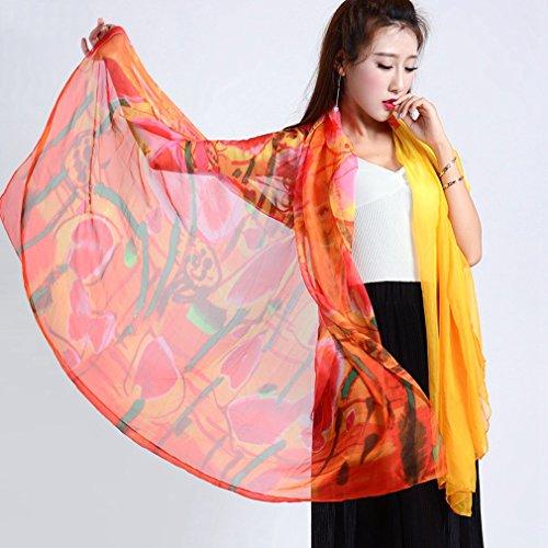 TOPSTORE01 Pareo Strandkleider Tulpe Muster Großes Tuch Bikini Wickelkleid Farbe4