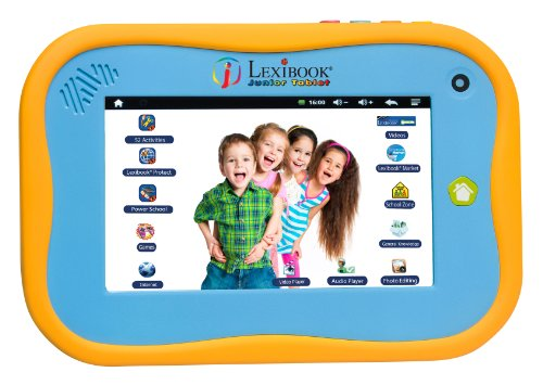 Lexibook Bluetooth Tablet Junior Power Touch mit kapazitivem Bildschirm in Englisch Version (Pad Smart Junior)