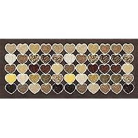 Tape Design 8056328002419Alfombra, Tela, Multicolor, 90x 65x 1cm