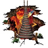 Wandaufkleber, Wandtattoo, Jamicy ® 3D flammenden Boden Wandaufkleber abnehmbare Wandtattoo Vinyl Kunst Wohnzimmer
