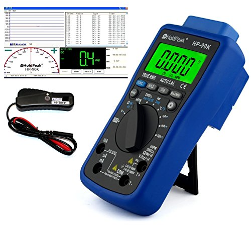 USB Automotive Multimeter HP-90K mit Induktionszange zur Drehzahlmessung HP-705A und Software Automotive Digital-multimeter