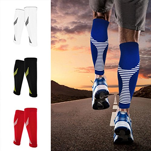 kaarifirefly 1Unisex Kompressions-Wadenbandage Sleeve Gegenstütze für Running Training Übung, Schwarz , Large