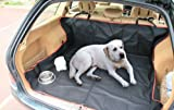 Black Heavy Duty Protective Car 2-in-1 Boot and Seat Liner for Dogs / Pets by Aesthetex®