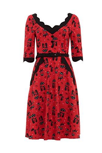 Voodoo Vixen Kleid KATNIS DRESS 8221 Red