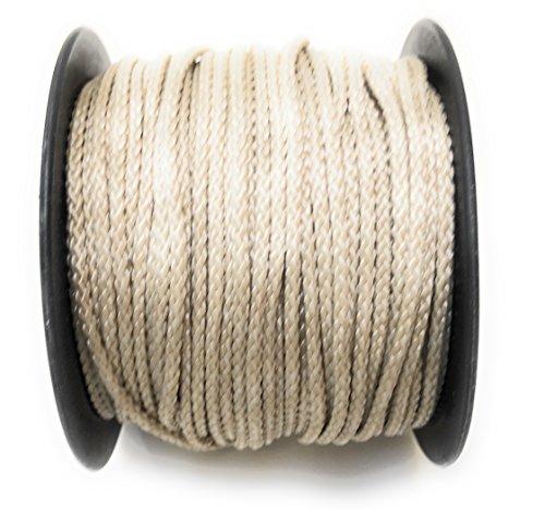 Viva Nature Polypropylen Seil PP Seil 3 mm 50m Rolle Flechtleine Reepschnur Polypropylenseil Tau Festmacher Schnur Tauwerk Universalseil Kordel (beige)