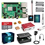 LABISTS Raspberry Pi 4 B Model B 4GB Starter Kit Motherboard 32GB SD Card Preloaded with NOOBS, Cooling Fan, 5.1V 3A Type C On/off UK Edition Power Supply, Micro HDMI to HDMI Cable, Black Case