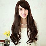 Spritech (TM) Nueva Fluffy elegante realista? cabezal de media peluca largo ondulado pelo rizado peluca de?? fibra? sintético? de la mujer? peluca, ne