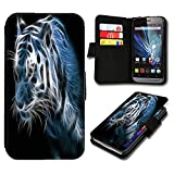 Book Style Nokia Lumia 630 Premium PU-Leder Tasche Flip Brieftasche Handy Hülle mit Kartenfächer für Nokia Lumia 630 - Design Flip SB476