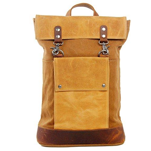 GSPStyle Unisex Canvas Schultertasche Herrentasche Schulrucksäcke große Reisetasche Damen Schultasche Farbe Braun