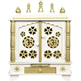 HomeCrafts Wooden Temple, Pooja Mandir for Home (White, Large- 24 X 12 X 30)