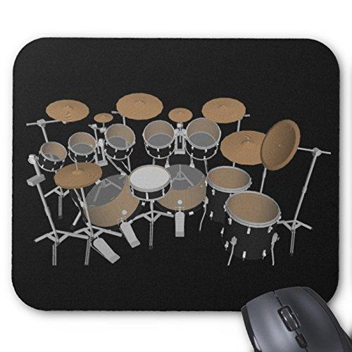 black-10-piece-drum-set-black-mouse-pad-drums-kit-mouse-pad-220mm180mm3mm