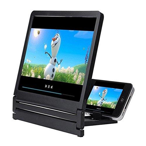 CALISTOUK Amplificador de pantalla para teléfono móvil, 3D, plegable, amplificador HD, amplificador de soporte, proyector de teléfono