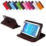 BRALEXX Universal 360° Tablet Tasche passend für Allview Viva H7 Extreme, 7 Zoll, Braun