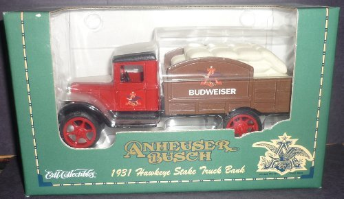 1-34th-scale-anheuser-busch-1931-hawkeye-stake-truck-bank-by-ertl-collectibles