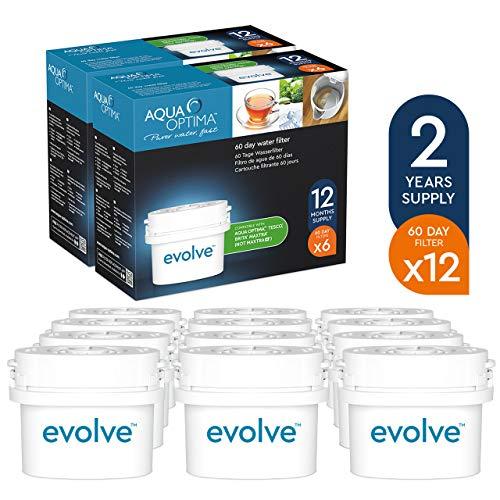 Aqua Optima Evolve confezione 2 anni, 12 filtri per acqua x 60...