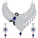 Sukkhi Lavish Rhodium Plated AD Necklace...