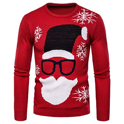 Jersey Navidad Hombre Suéter Papa Noel Retro Prendas