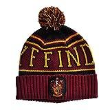 Harry Potter Mütze Gryffindor Strick mit Logo u Bommel für Damen und Herren von Elbenwald rot