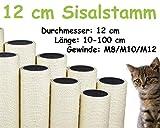 kratzbaumland 12 cm Sisalstamm (Länge: 10-100 cm; M8/M10/M12) Stammlänge: 20 cm/Gewinde: 10 mm (M10)