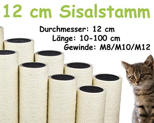 kratzbaumland 12 cm Sisalstamm (Länge: 10-100 cm; M8/M10/M12) Stammlänge: 40 cm/Gewinde: 10 mm (M10)