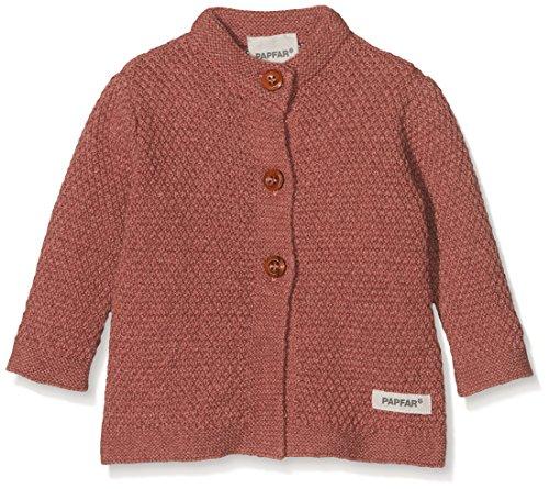 Papfar Baby-Mädchen Knit Strickjacke, Rosa (Dusty Rose 516), 56 (Herstellergröße: 0M)