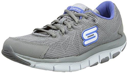 Skechers Liv Go Spacey, Damen Outdoor Fitnessschuhe, grau - Grau (Grau/Blau) - Größe: 36 EU