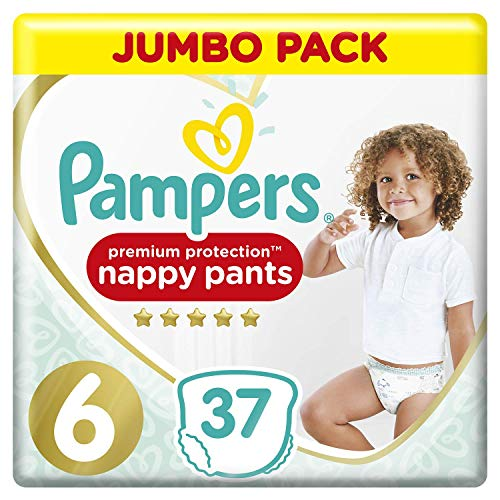 Premium Protection Pampers Pants, Gr. 6 (15+ kg), Jumbopack, 2er Pack (2 x 37 Stück)