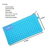 #5: WhitePavo Stylish Silicone Pen / Pencil / Stationery Zipper Pouch / Bag / Case