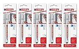 5er Sparpack edding 4-8850-1-4001 Spezialmarker 8850 Bohrloch pen DIY, 0.7-1 mm, schwarz (5)