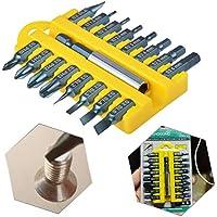 HHXEN - Juego de 17 puntas de destornillador eléctrico