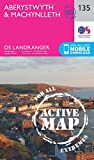 Landranger Active (135) Aberystwyth & Machynlleth (OS Landranger Map)