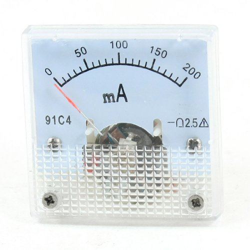 DC 0-200mA, Klasse 2.5 Analog Panel Meter Ammeter Amperemeter Dc Distribution Panel