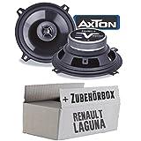 Renault Laguna 2 - Lautsprecher Boxen Axton AE502F | 13cm 2-Wege 130mm Koax Auto Einbauzubehör - Einbauset