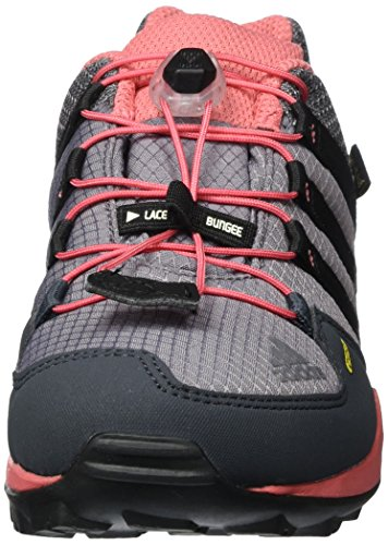 adidas Terrex Gtx K, Scarpe da Arrampicata Basse Unisex-Bambini Grigio (Trace Grey/core Black/tactile Pink)
