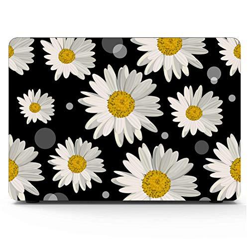 MacBook Air Schutzhüllen Floral Gold Weiß Gelb Love Daisy Hartplastikschale Kompatibel Mac Air 11