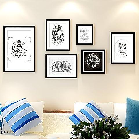 YUPD Grandi dimensioni foto parete telaio parete carta marmellata Club cultura parete home decor wall hanging Cornice portafoto da parete/ Cornici foto - Disney Wall Hanging