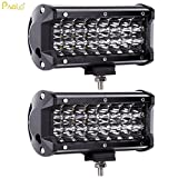 #4: Pivalo Heavy Duty Upgraded Version 24 Led Fog Light/Work Light Bar Spot Beam Off Road Driving Lamp 72W Cree (Pack of 2)