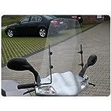 Wohnstyle24 Universelles Windschutzschild 021 transparent Windschild für Roller Motorrad Mofa Motorroller Quad ATV Schutzscheibe Windschutz transparent