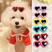 AISE 8pcs Lazos para el Cabello para Mascotas, Pinzas para Lazos para el Cabello de Mascotas, Estilo de Amor, Perrito, Boutique, Gafas de Sol, Tocado, Accesorios, Lindo Gato, Aseo