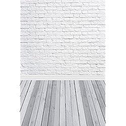 1.5*2.2m(150*220m)Tela pictórica GRIS piso de madera de estudio foto de fondo blanco ladrillos para recién nacido telón de fondo de vinilo delgada fotografía D-9713
