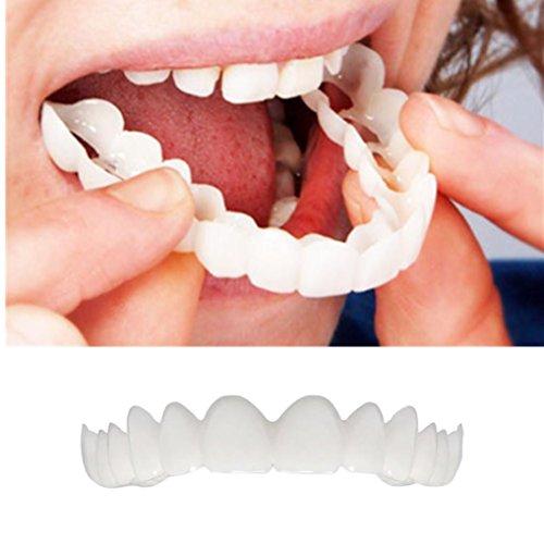 Zähne Top Kosmetik Furnier, AmaMary Clearance ❤️ ❤️ ❤️ Instant Lächeln Komfort Fit Flex Cosmetic Teeth Prothese