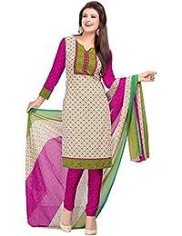 A K Designer Women's Chiffon Dress Material (Mehak1017_Free Size_Blue)