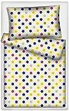 Kinderbettwäsche Minipunkte (Design 1) 2-tlg. 100% Baumwolle 40x60 + 100x135 cm mit Reißverschluss